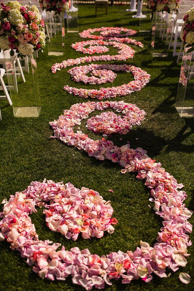 Pink Petal Aisle Decoration