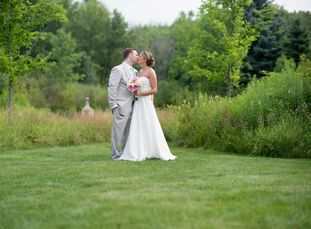 ThornCreek Winery and Gardens in Aurora, Ohio, had the beautiful garden ceremony space and tented lawn reception area that Lauren Day (24 and a teache