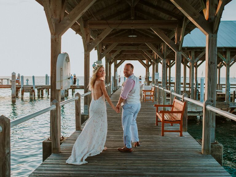 wedding at sunset keys cottages