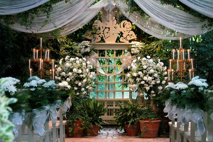 The conservatory tropical gardenhouse weddings st for Beautiful gardens to get married in