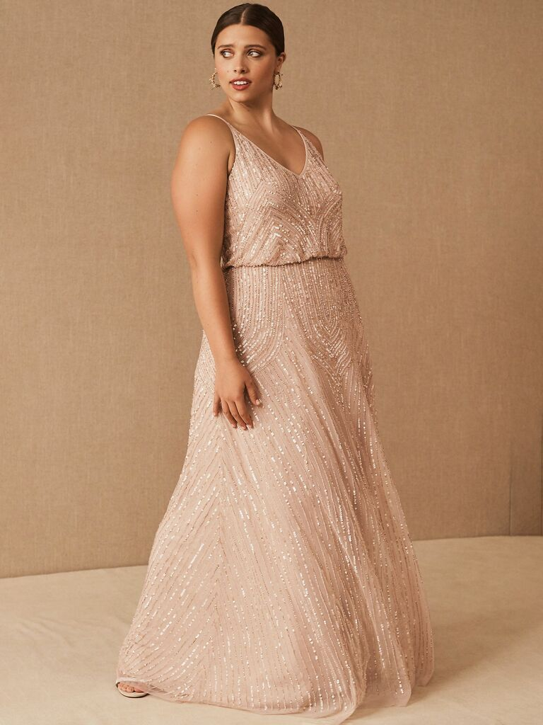 blush beaded maxi dress