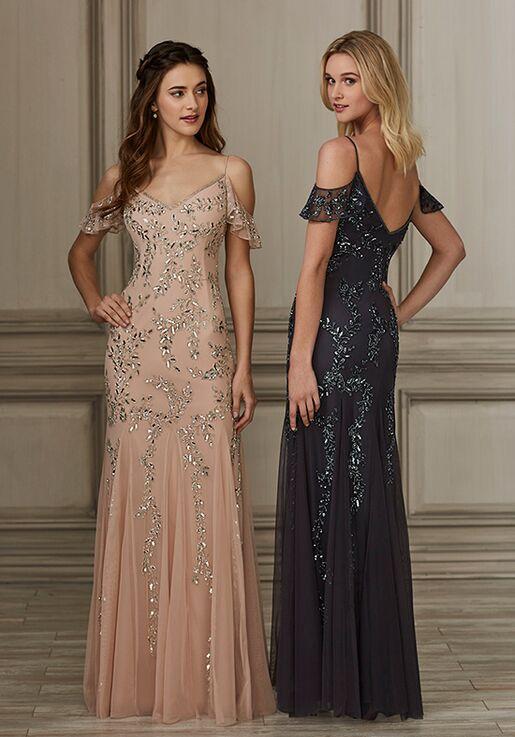 Adrianna Papell Platinum 40150 V-Neck Bridesmaid Dress