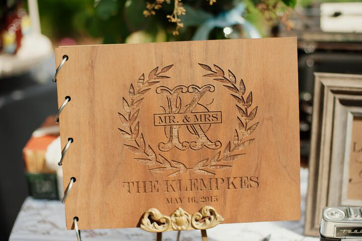 Classic Wooden Guest Book Cover