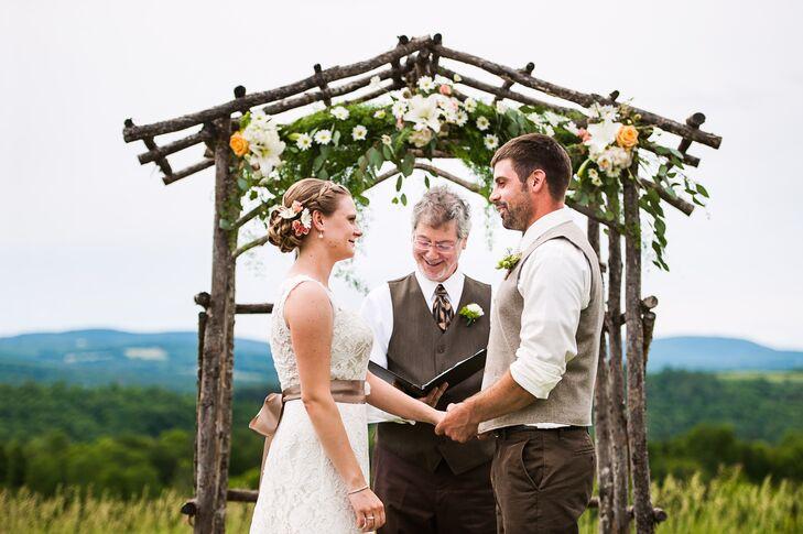 Rustic Tree Branch Wedding Arch