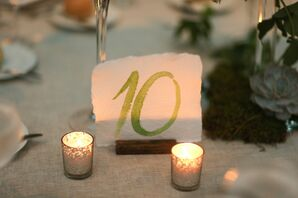 Rustic Watercolor Table Numbers