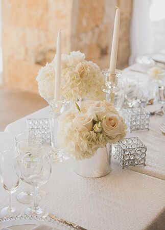 ivory rose centerpieces | Luxury Estate Weddings & Events | Blog.theknot.com