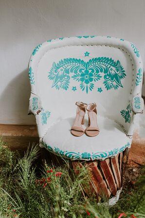 Tan High-Heeled Shoes