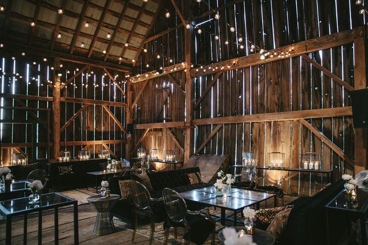 Modern Black-Tie Barn Reception