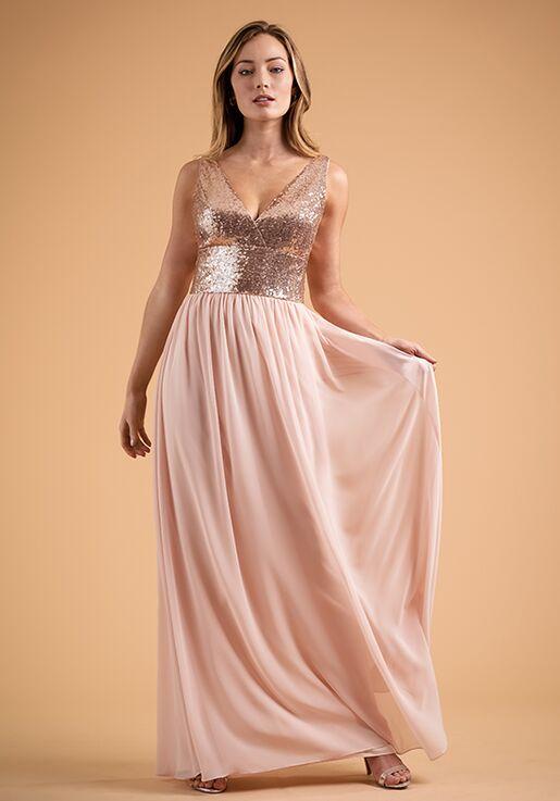 B2 Bridesmaids by Jasmine B223015 V-Neck Bridesmaid Dress
