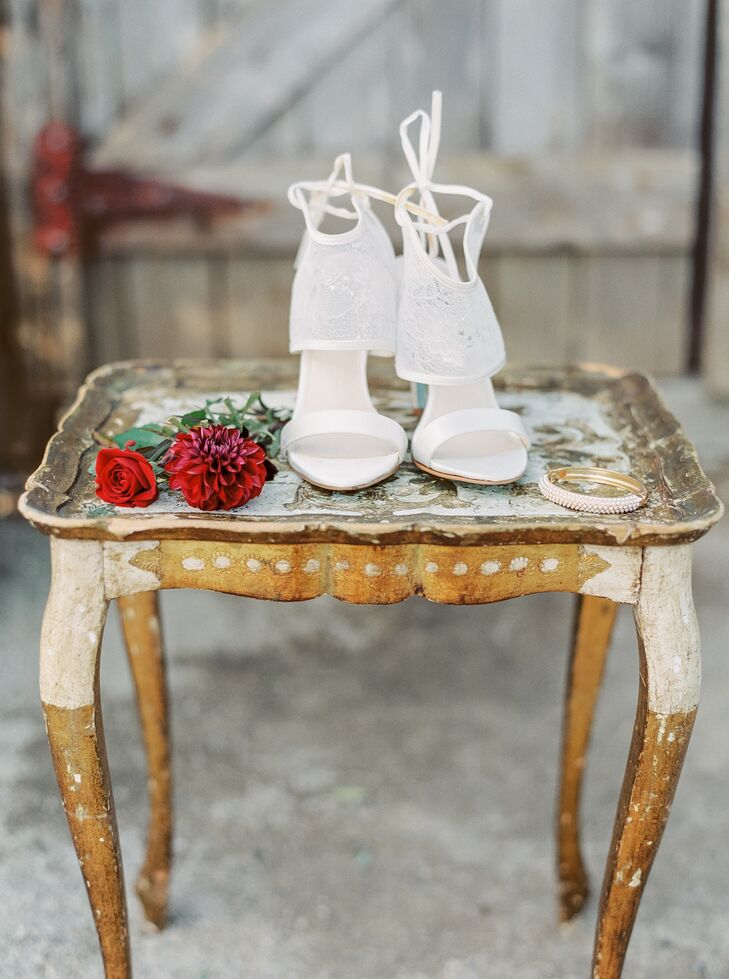 Bohemian White High Heels with Lace Detail