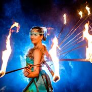 Mobile, AL Fire Dancer | La Santa Damiana