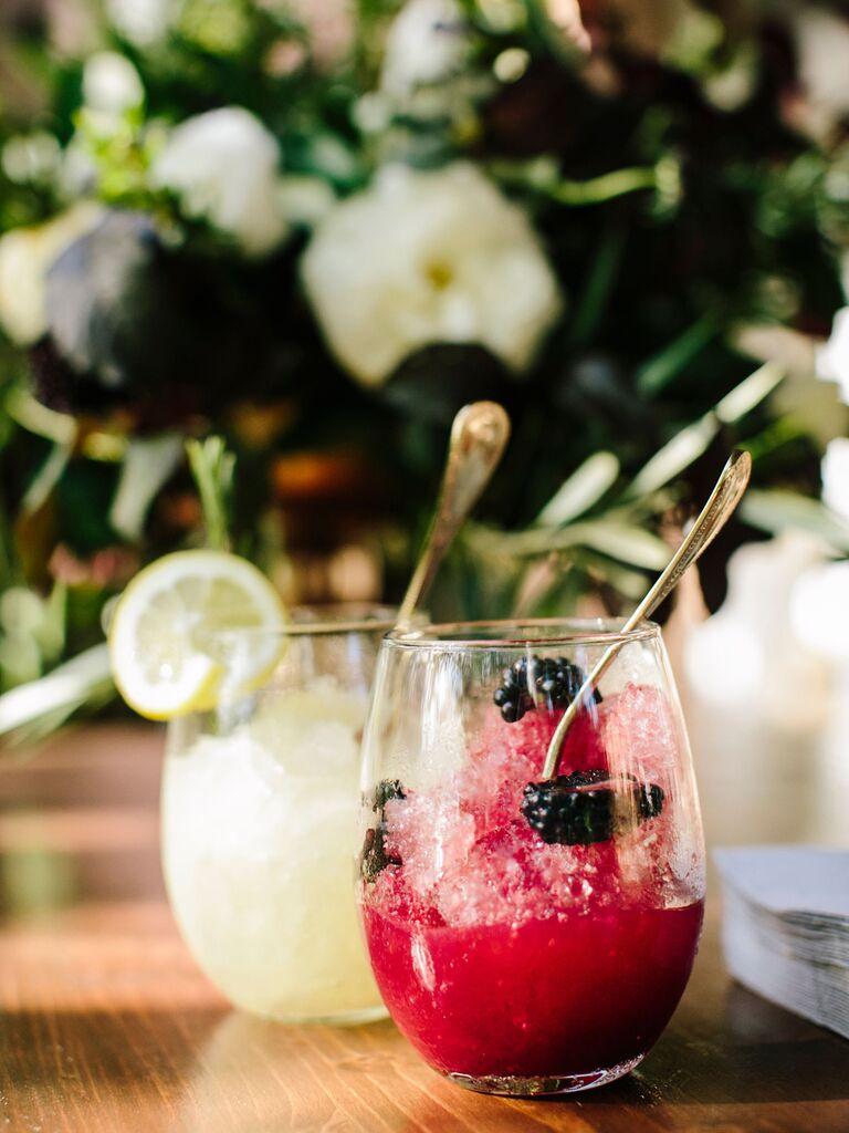 wedding drink ideas fruity slushy