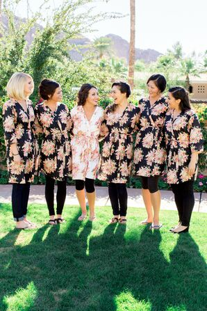 Bridesmaids, Black Dressing Gowns