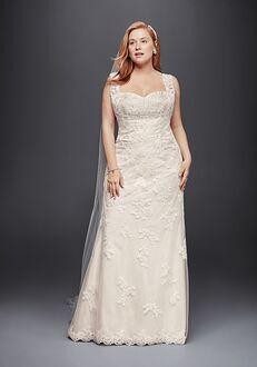 David's Bridal David's Bridal Style 9WG3816 Sheath Wedding Dress