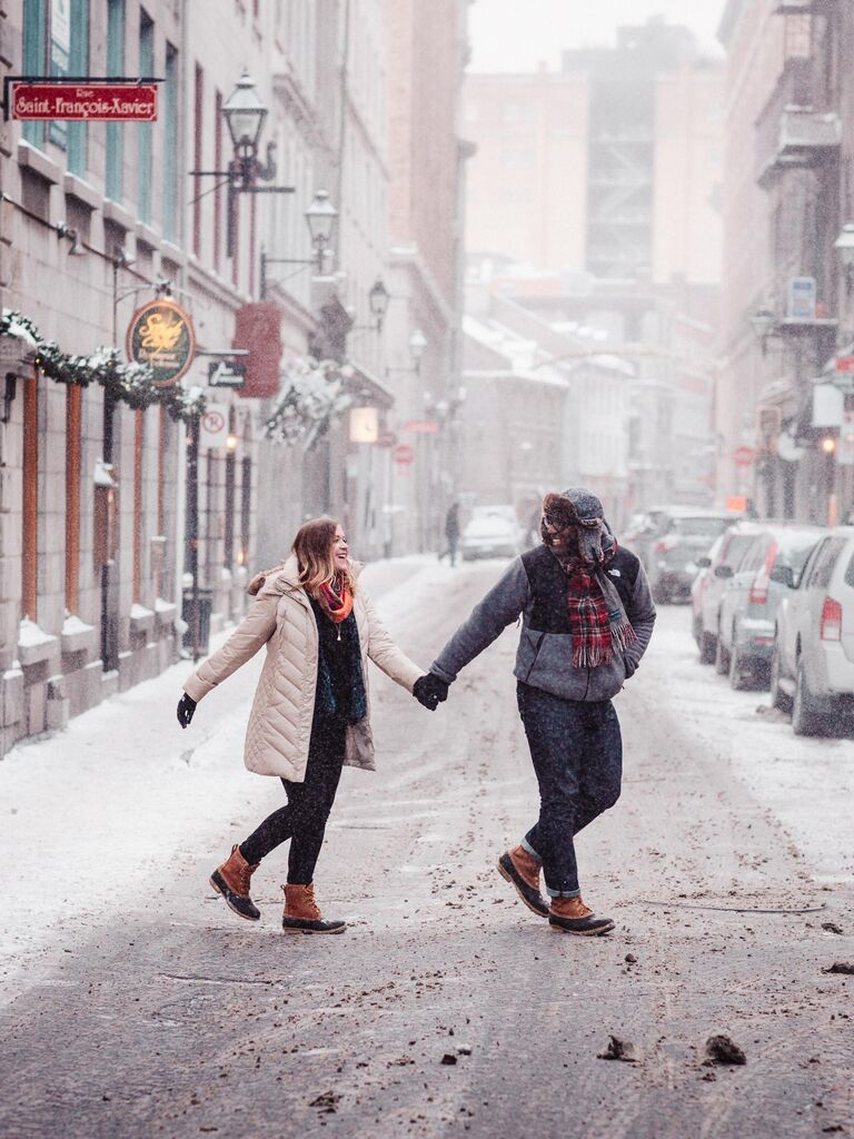 Winter anniversary photo