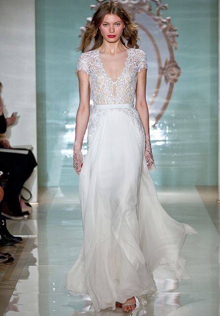 Reem Acra Gorgeous Girl Wedding Dress - The Knot