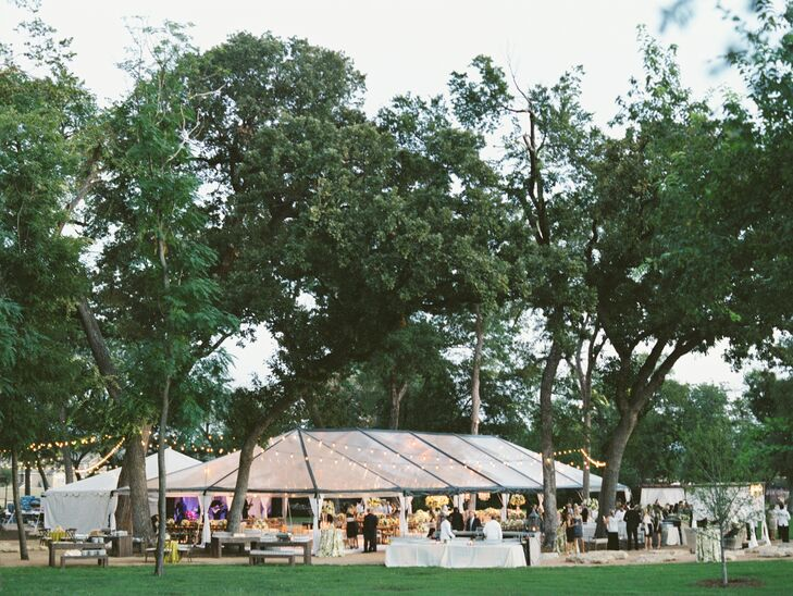 Clear-Tented Outdoor Reception in Fort Worth, Texas