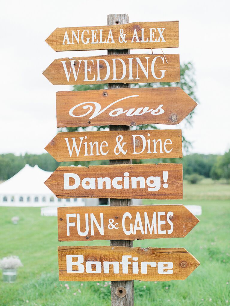 Wooden sign ideas for cocktail hour games