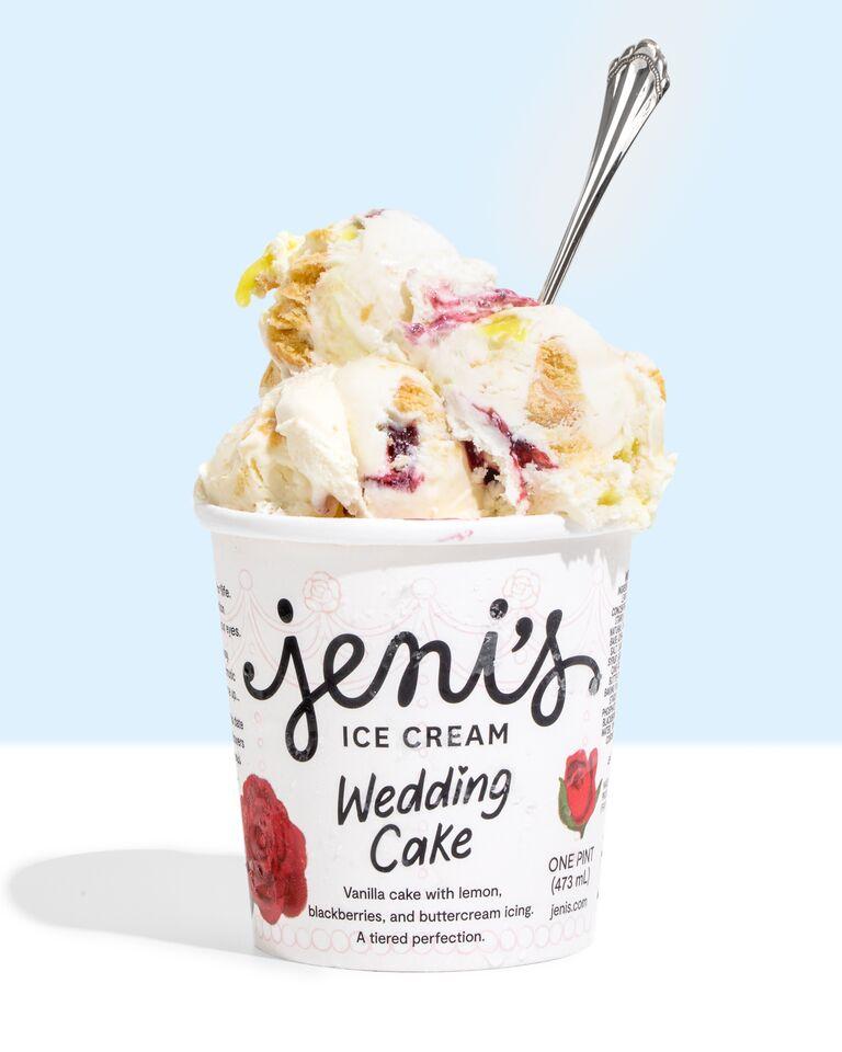 wedding cake ice cream flavor bachelorette party food