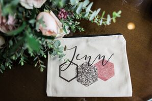 Personalized Geometric Bridesmaid Clutches