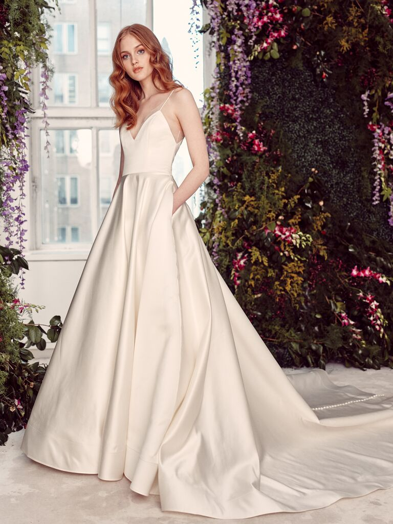 Alyne by Rita Vinieris Spring/Summer 2020 Bridal Collection spaghetti strap A-line wedding dress