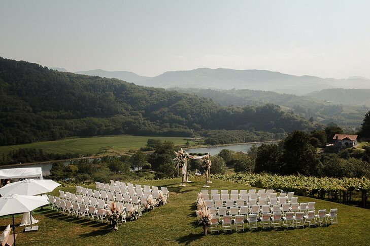 Hilltop Wedding Ceremony in San Sebastian, Spain