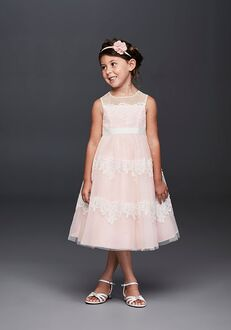 David's Bridal Flower Girl David's Bridal Style WG1374 Ivory Flower Girl Dress