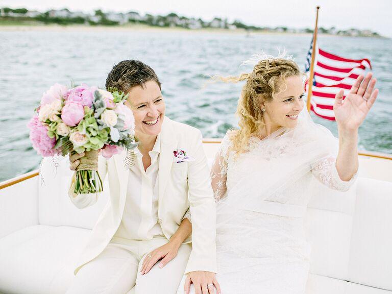 Cape Cod wedding boat ride