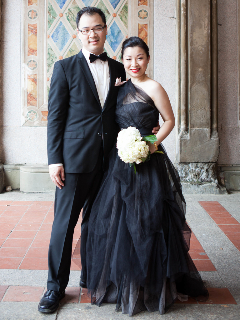 Black Gown Non White Wedding Dress
