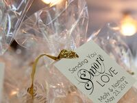 Creative edible wedding favor idea, cute s'more kits