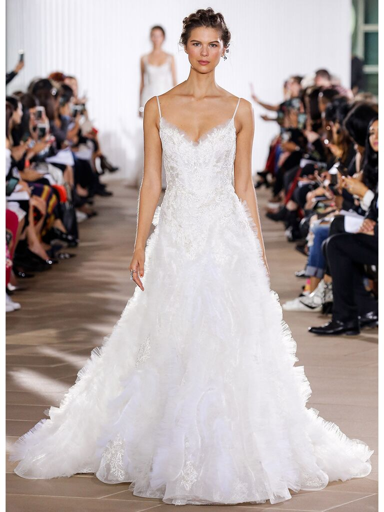 Ines Di Santo wedding dress floral a-line gown
