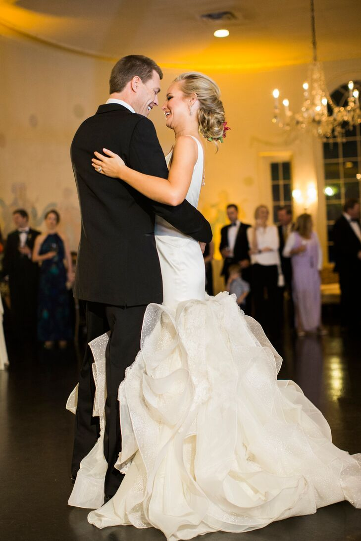 "Keeley and Graham swayed to ""Born to Love You"" by Nathan Angelo as their first dance. ""We were looking for something different from your typical first-dance song, and it could not have been more perfect for the two of us,"" Keeley says."