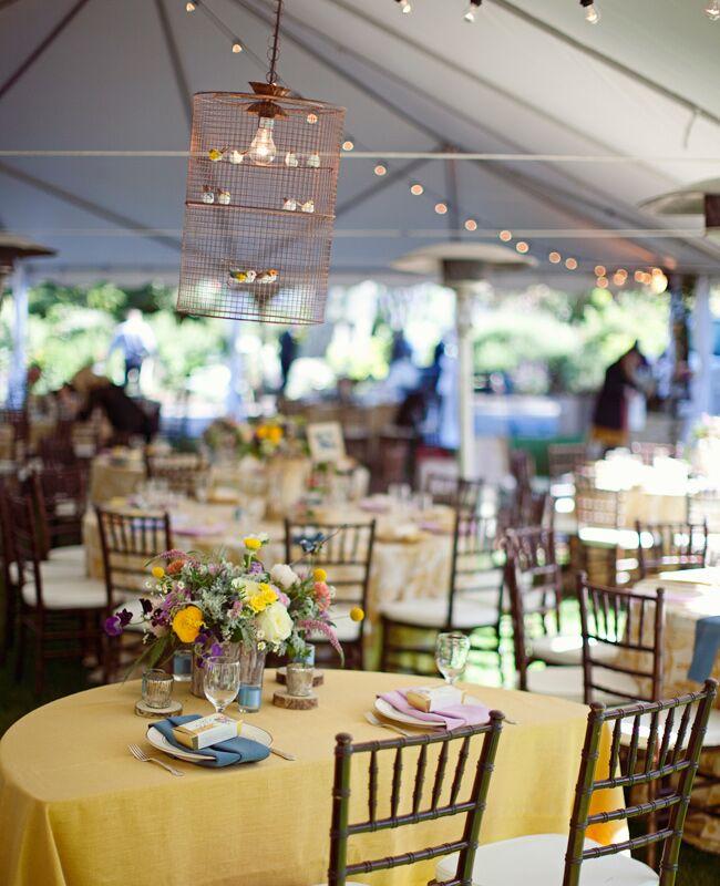 Creative Birdcage Chandelier Wedding Decor | Joielala | Blog.TheKnot.com