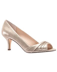 Nina Bridal Chezare_Taupe- Reflective Suedette Black, Blue, Ivory, Pink, Red, Silver Shoe