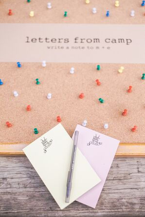 Monogrammed Sticky Note Guest Book