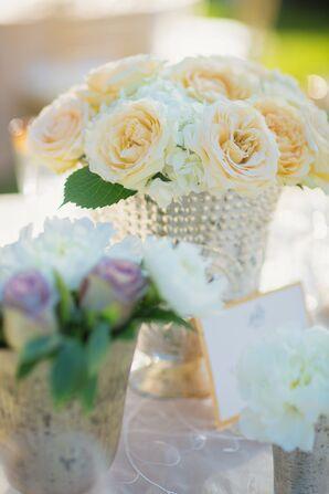 Pale Yellow Garden Rose Centerpiece Accent