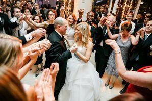 Hora Dance at Modern, Interfaith Wedding