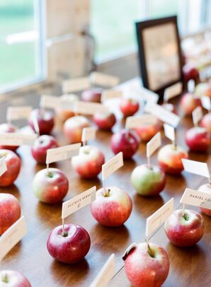 Apple Escort Cards for Fall Reception