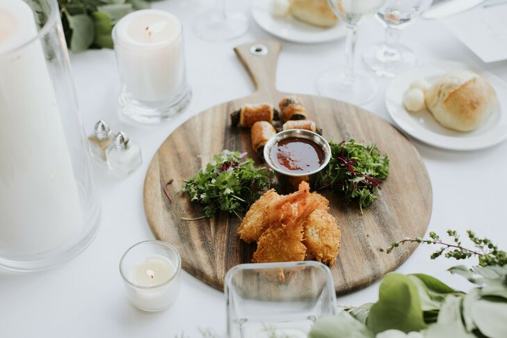 Hors D'Oeuvres During Wedding at Prisidio Golf Course in San Francisco, California