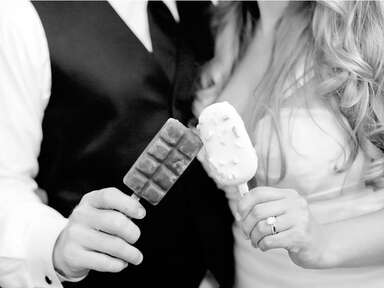 Popsicles at a wedding