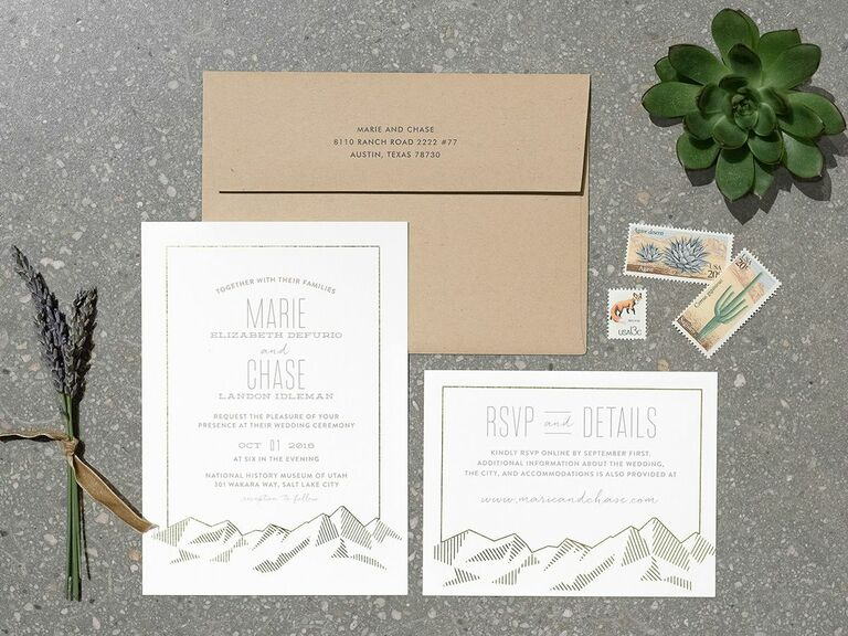 rustic mountain invitation