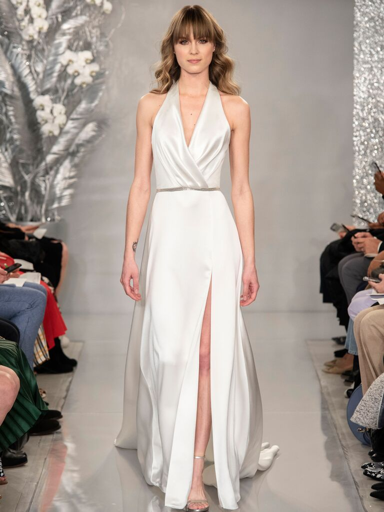 Theia Spring 2020 Bridal Collection halter wedding dress