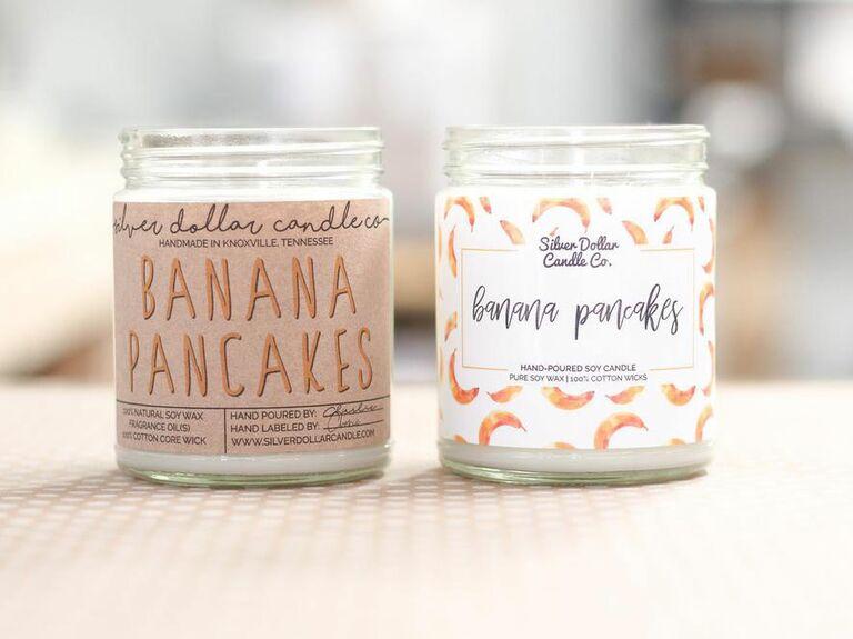 banana pancake scented candle