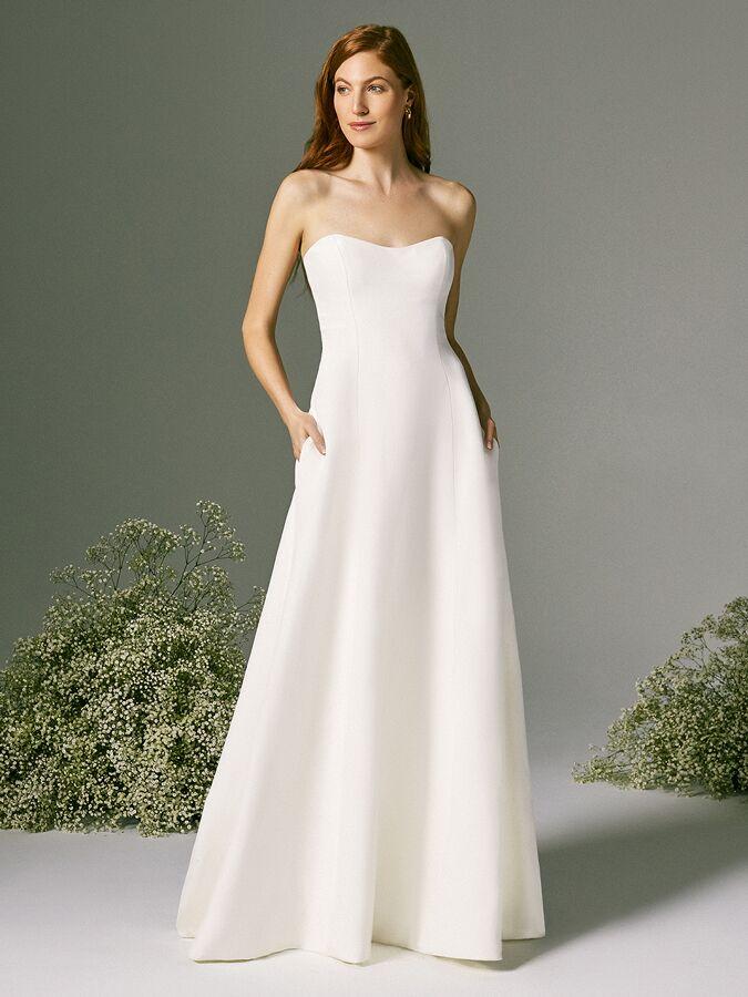 Savannah Miller strapless wedding dress with sweetheart neckline