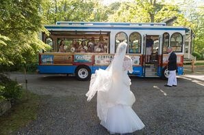 Trolley Wedding Transportation