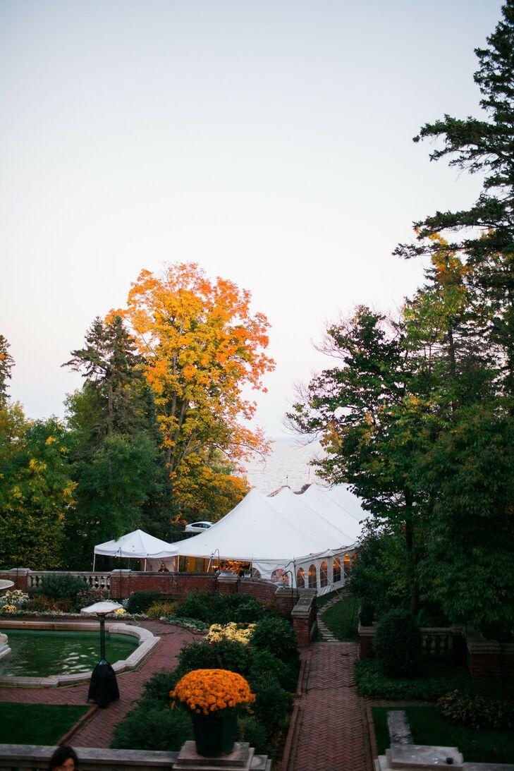 Fall Reception Under a Tent at Glensheen in Duluth, Minnesota