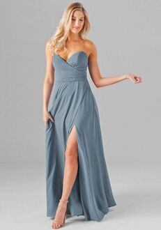 Kennedy Blue Poppy Strapless Bridesmaid Dress
