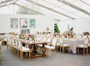 Modern Tented Wedding Reception