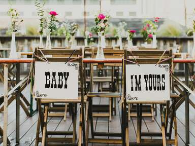 Vintage Western-Inspired Sweetheart Chairs