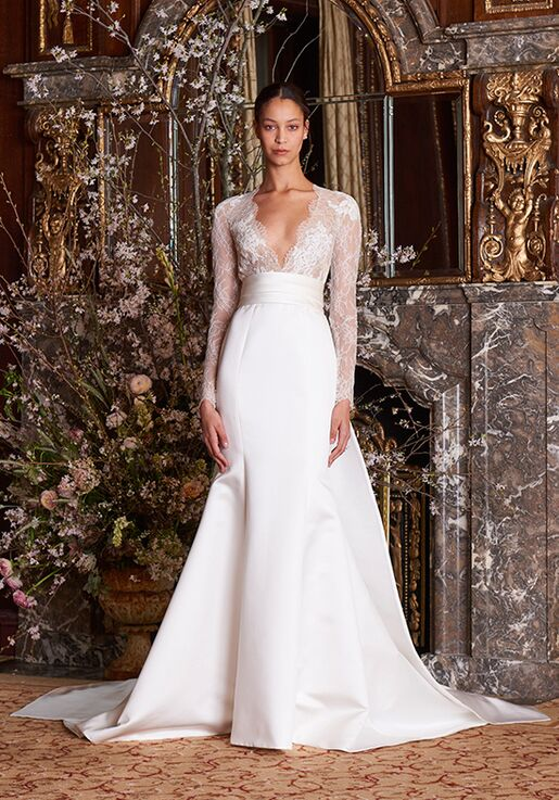 Monique Lhuillier Albertine Mermaid Wedding Dress